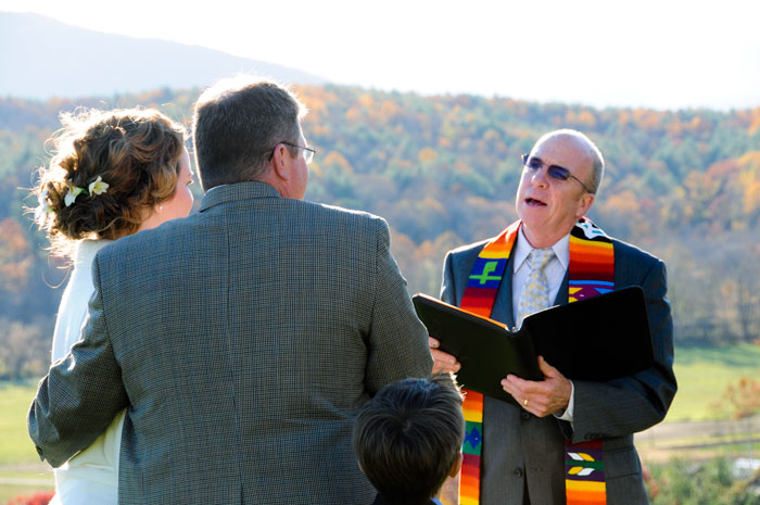 Wedding Ceremony in the North Carolina Blue Ridge Mountains