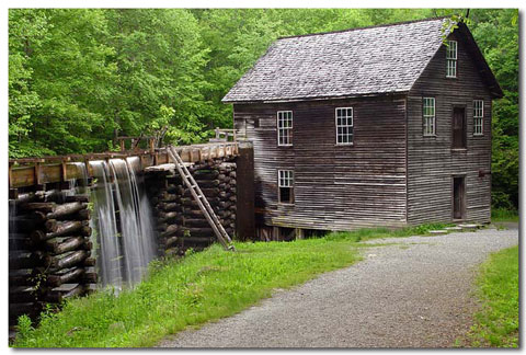 Mingus Mill in the North Carolina Blue Ridge Mountains